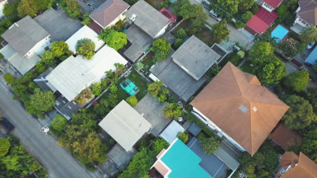aerial shot of houses - villa stock videos & royalty-free footage