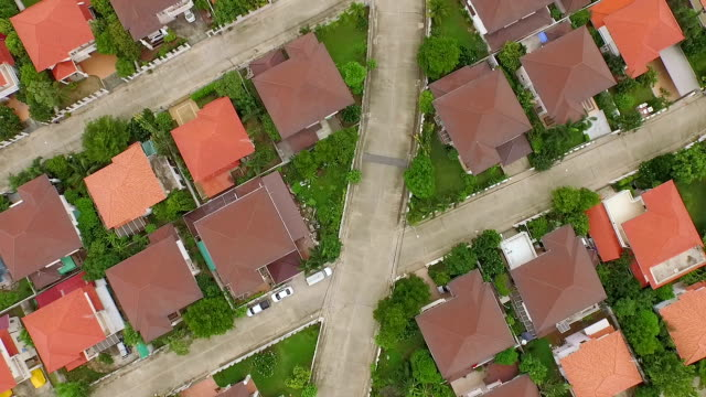 aerial shot of housing - american culture stock videos and b-roll footage