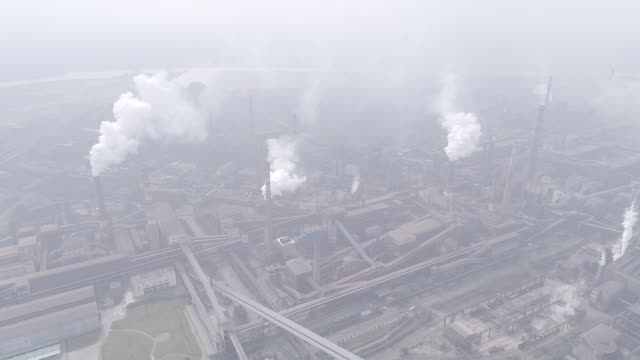 aerial shot of industry - coking plant,d-log color mode - ruhr stock videos & royalty-free footage