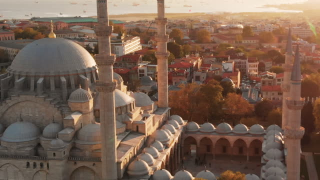 aerial shot of istanbul city, turkey - istanbul stock videos & royalty-free footage