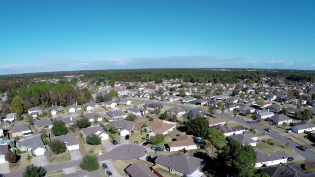 aerial shot of jacksonville neighborhood - florida usa stock videos and b-roll footage