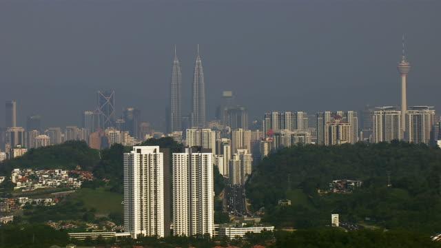 Aerial Shot Of Kuala Lumpur Skyline