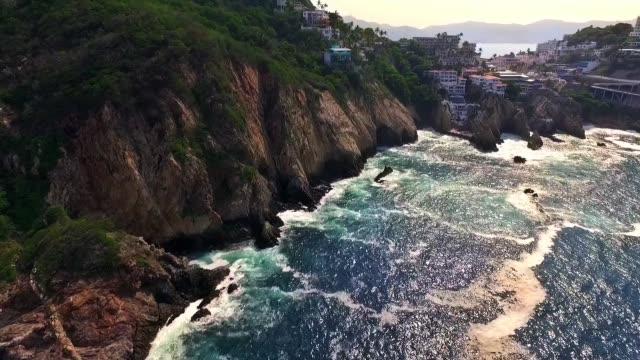 Aerial shot of La Quebrada in Acapulco Guerrero in Mexico