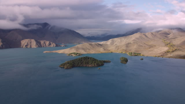 Aerial shot of Lake Benmore