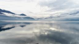 Aerial shot of lake Maggiore
