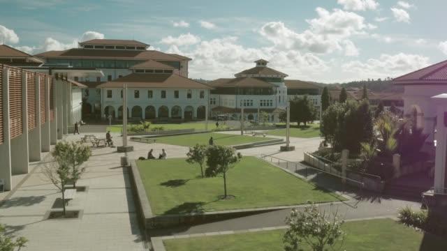 aerial shot of massey university - university stock videos & royalty-free footage