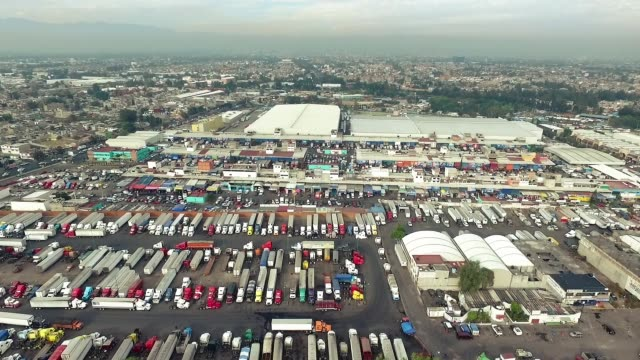 aerial shot of mexico city - articulated lorry stock videos and b-roll footage