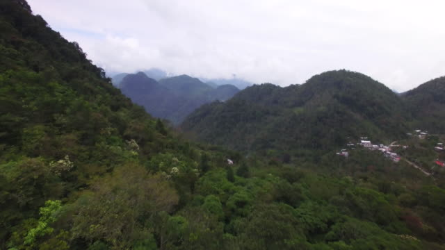 aerial shot of mountains & clouds in mexico 12 - mexico stock videos & royalty-free footage