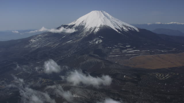 Aerial Shot of Mt. Fuji, JAPAN