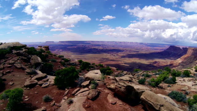 aerial shot of needles overlook - moab utah stock-videos und b-roll-filmmaterial