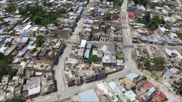 aerial shot of neighborhood in havana cuba - havana stock videos & royalty-free footage