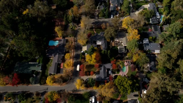 aerial shot of northern california neighborhood - northern california stock videos & royalty-free footage