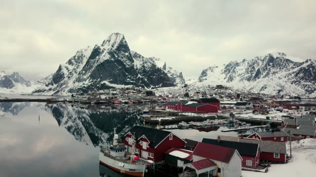aerial shot of norway beautiful fiords - northern europe stock videos & royalty-free footage
