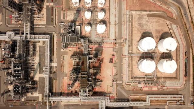 石油精製工場の空中写真 - 石油点の映像素材/bロール