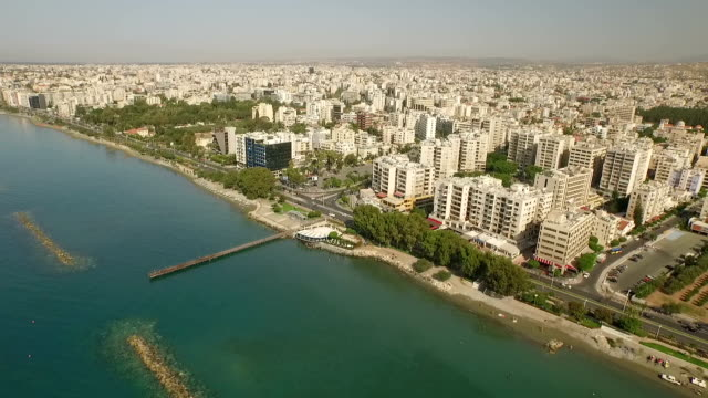 aerial shot of paphos city in cyprus - cyprus island stock videos & royalty-free footage