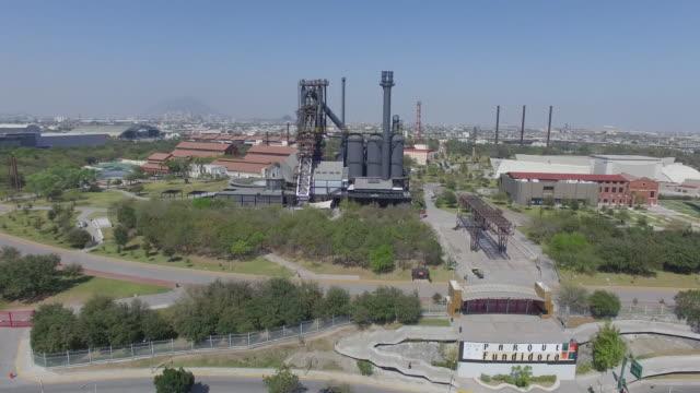 Aerial shot of Parque Fundidora in Monterrey Mexico