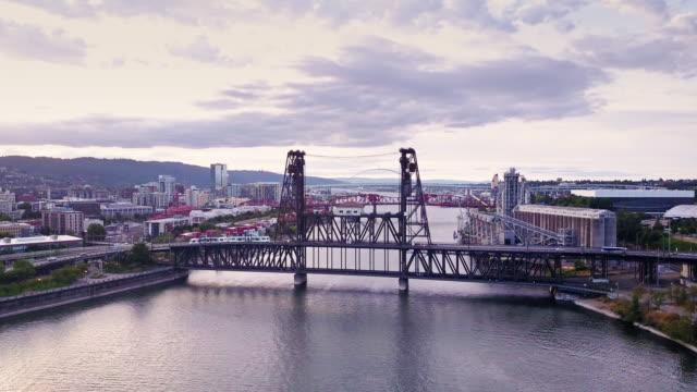 Aerial Shot of Portland Bridges
