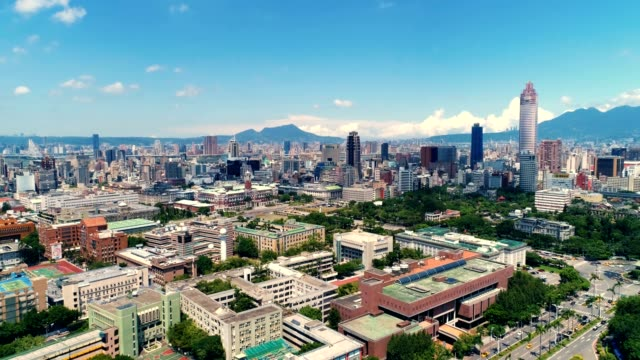 aerial shot of presential office building in zhongzheng district, taipei - taipei stock videos & royalty-free footage
