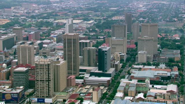 aerial shot of pretoria city centre - pretoria stock videos & royalty-free footage