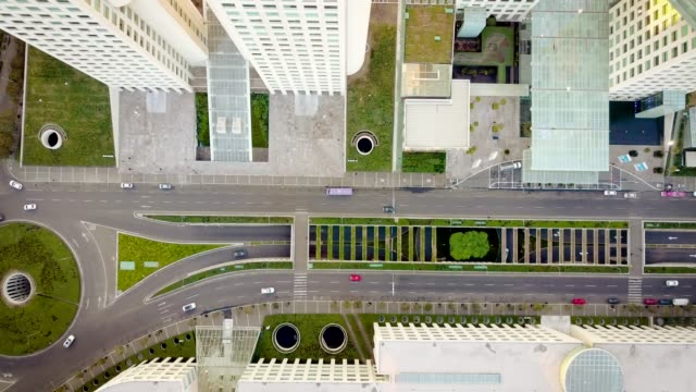 aerial shot of road in santa fe, mexico city - avenue stock videos & royalty-free footage