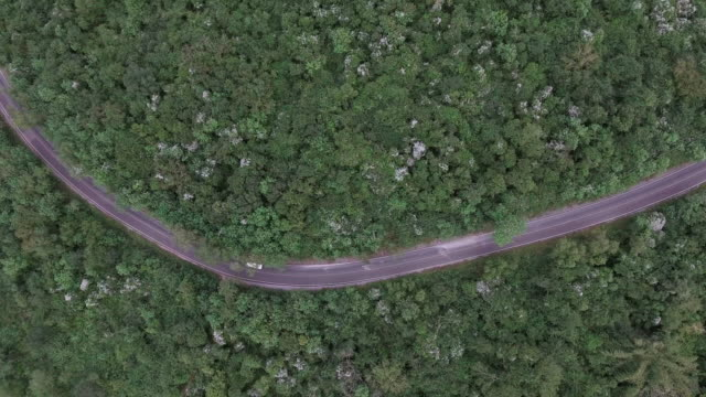 aerial shot of road in the hill - dirt road stock videos and b-roll footage