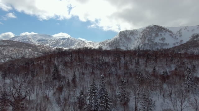 aerial shot of snow field with mountain range - cascade range stock videos & royalty-free footage
