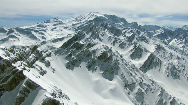 Aerial Shot Of Snowy Andes Mountains