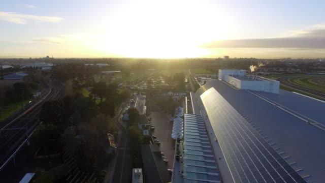 Aerial shot of Solar Panels at Flemington Racecourse Melbourne