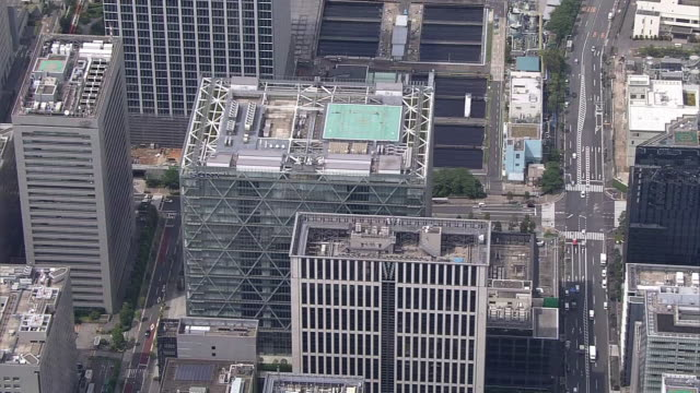 aerial shot of sony corporation's headquarters complex, a building in which sony's headquarters and sony group are located; sony is a world leading... - sony stock videos & royalty-free footage