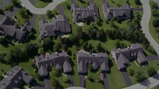 aerial shot of streets and houses during daytime. - wisconsin stock videos & royalty-free footage