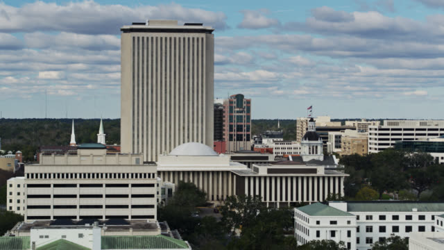 aerial shot of tallahassee, florida - local government building stock videos & royalty-free footage