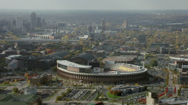 Aerial Shot Of TCF Bank Stadium In Minneapolis