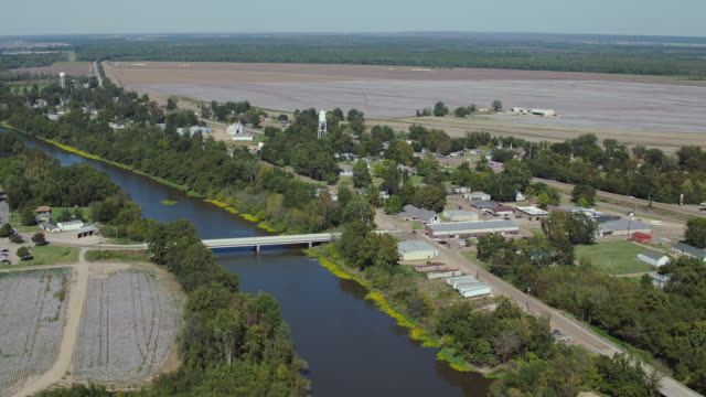 aerial shot of tchula mississippi - river mississippi stock videos & royalty-free footage