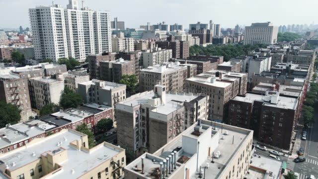 aerial shot of the bronx, new york city - day stock videos & royalty-free footage