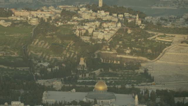aerial shot of  the church of mary magdalene - jerusalem stock-videos und b-roll-filmmaterial