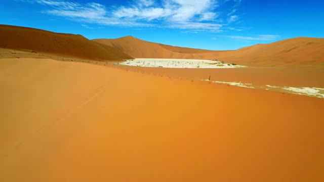 heli aerial shot of the dead vlei - natural landmark stock videos & royalty-free footage