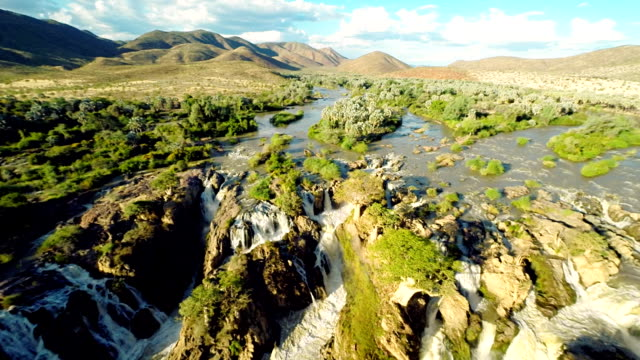 HELI Aerial Shot Of The Epupa Falls