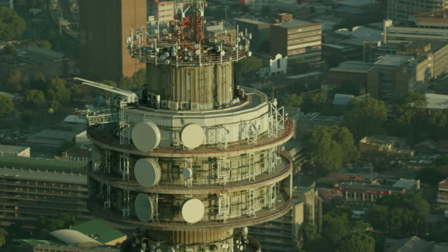 aerial shot of the hillbrow tower - durability stock videos and b-roll footage