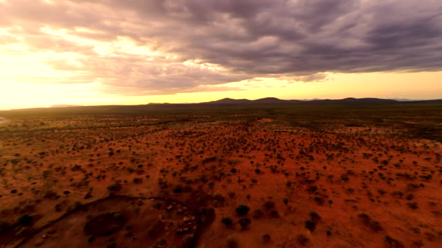 HELI Aerial Shot Of The Himba Village