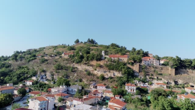 HDR Aerial shot of the historical medieval town of Didymoteicho in northern Greece