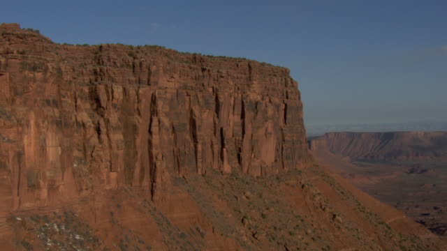 Aerial shot of The Rectory rock formation, Utah.