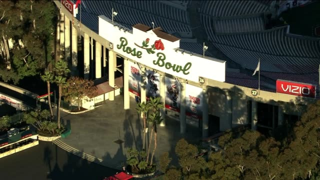 Aerial Shot of the Rose Bowl on January 01 2014 in Pasadena California