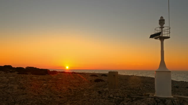Luftaufnahme des Sonnenuntergangs aus einem Insel-Strand