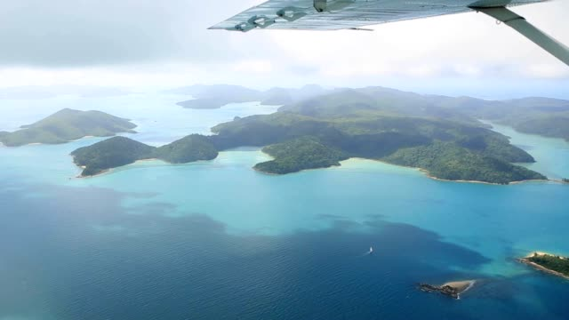 Aerial shot of the Whitsundays Islands