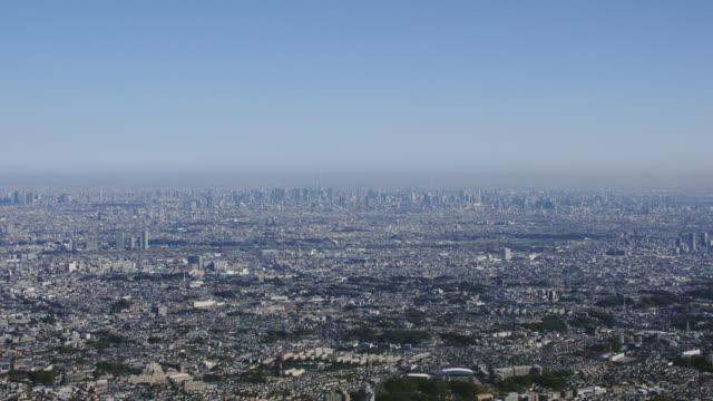 Aerial Shot of Tokyo metropolis, panoramic view.