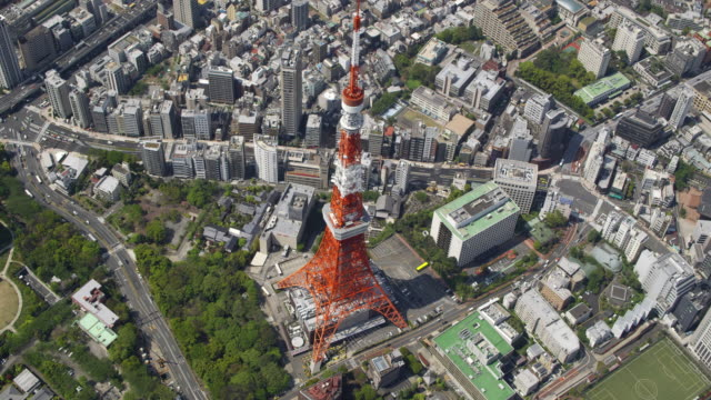 Aerial shot of Tokyo Tower
