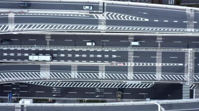 都市計画道路の空中ショット - 高速道路点の映像素材/bロール