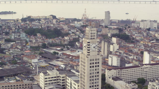 vídeos de stock, filmes e b-roll de aerial shot of various buildings in rio de janeiro, brazil - centro da cidade
