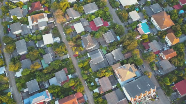 aerial shot of village - stereotypically middle class stock videos & royalty-free footage