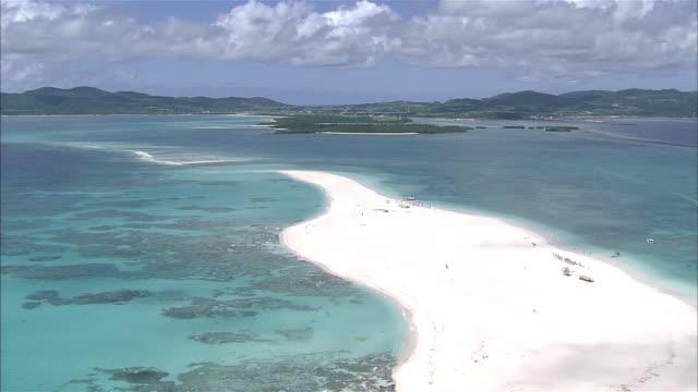 Aerial Shot; Off Kumejma; Hatenohama and Kumejima